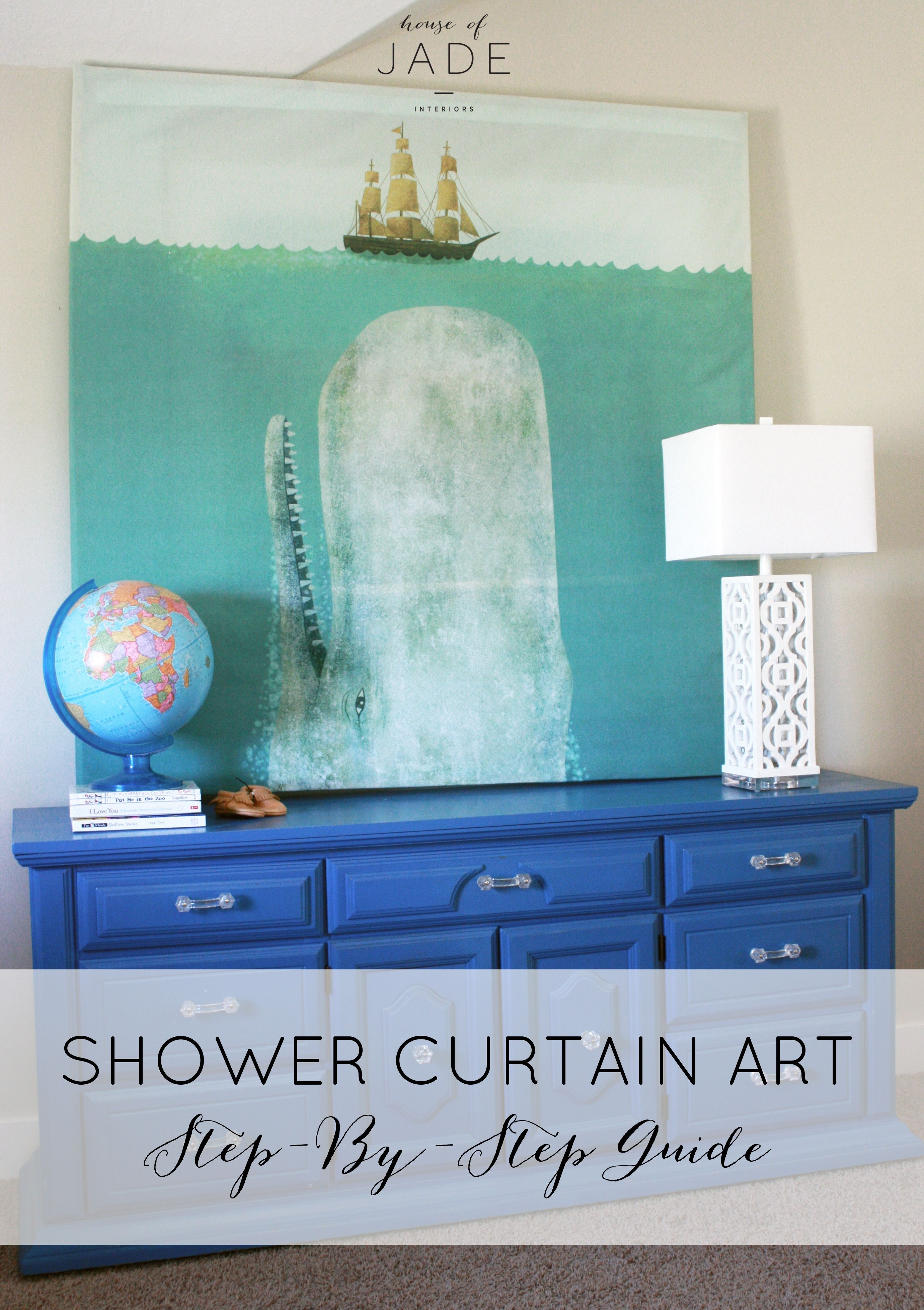 Diy Shower Curtain Art3 | Make It At Home | Pinterest | Diy Shower regarding Shower Curtain Wall Art (Image 9 of 20)