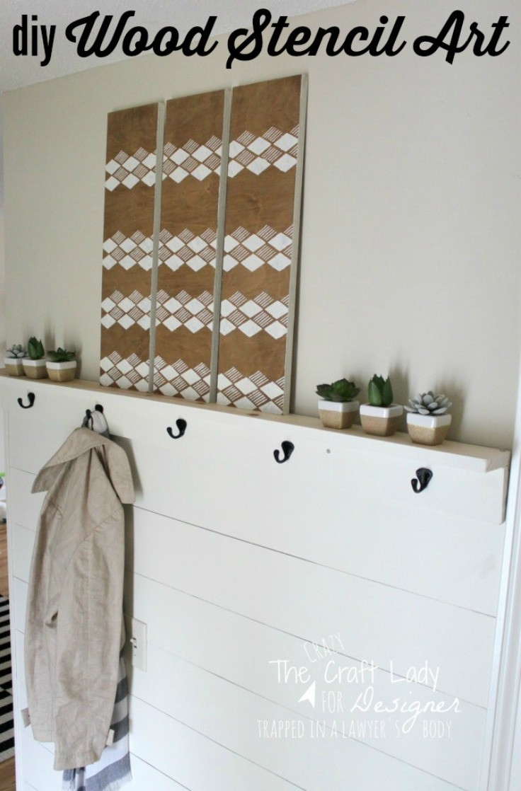 Diy Stencil Wall Art From Scrap Wood | Designer Trapped Pertaining To Stencil Wall Art (View 7 of 20)