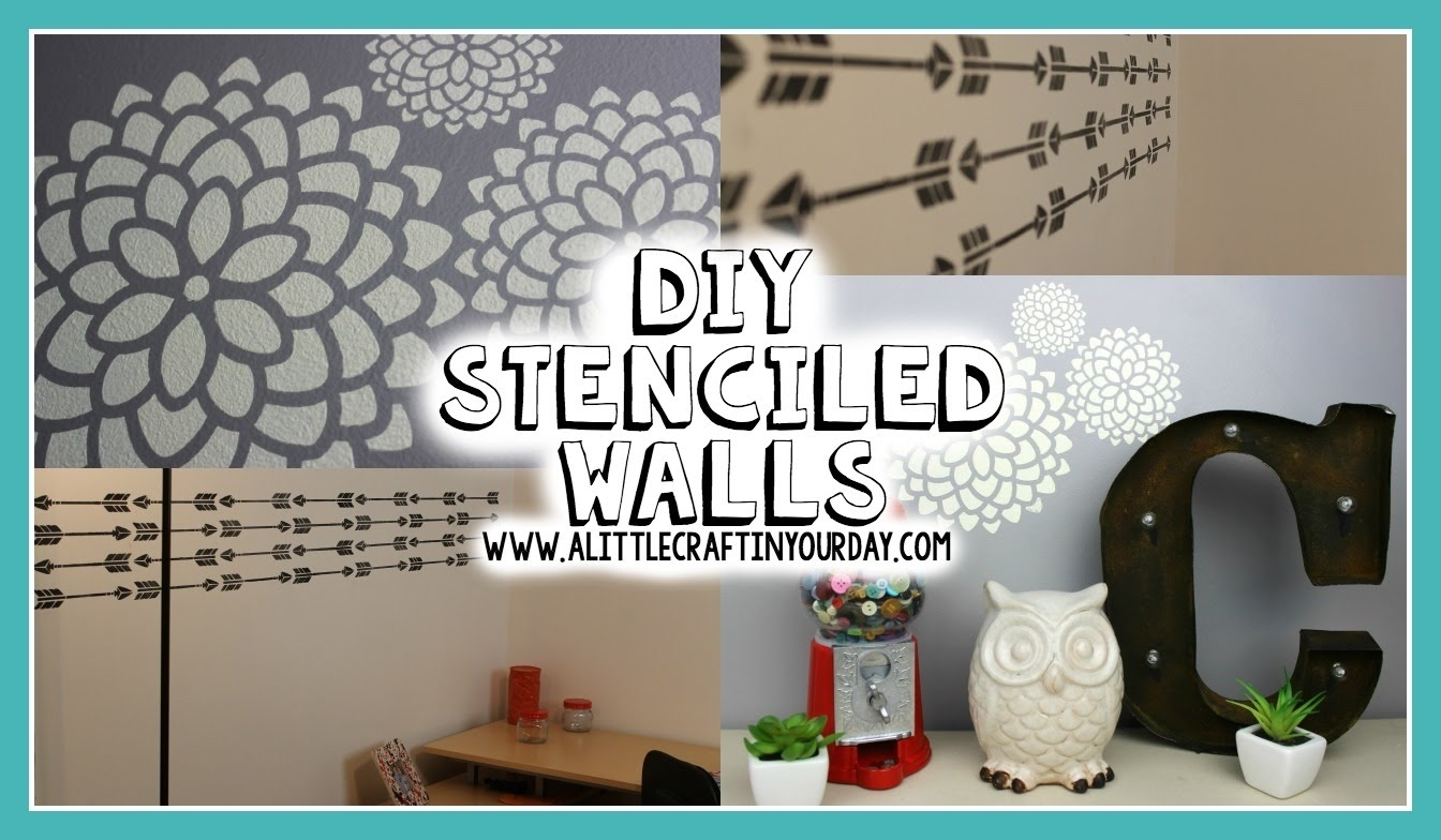 Diy Stenciled Wall   Easy Diy & Teen Room Decor – Youtube With Regard To Teen Wall Art (View 13 of 20)