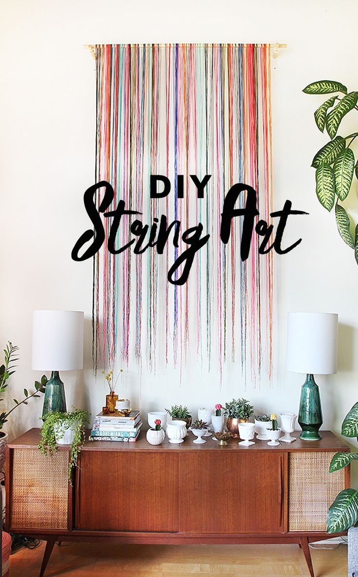 Diy String Wall Art | The Sweet Escape | Bloglovin' | Easy Diy Ideas with regard to Unique Wall Art (Image 3 of 20)
