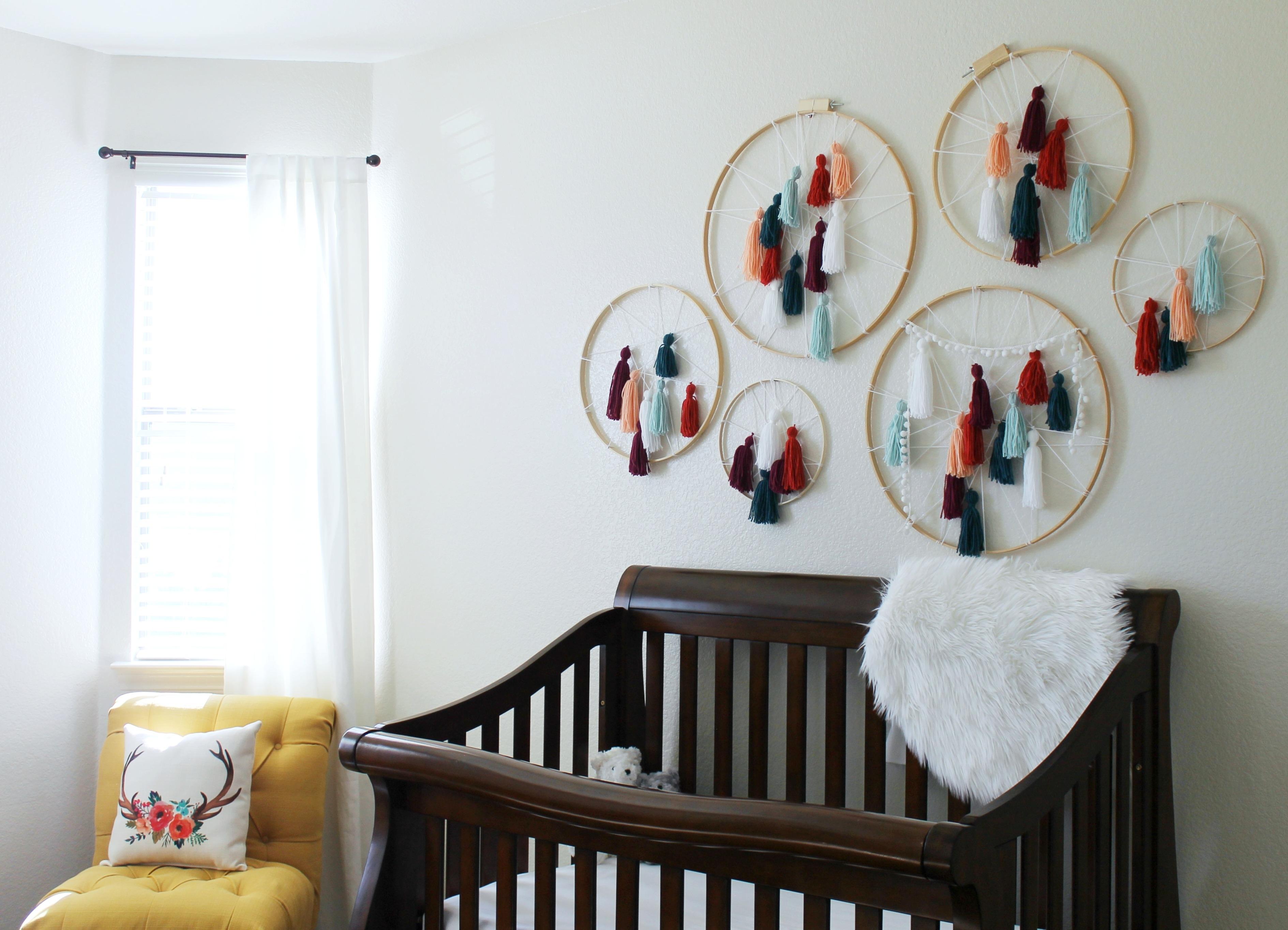 Diy Tassel Dreamcatcher Yarn Wall Art Tutorial – Child At Heart Blog Regarding Yarn Wall Art (View 20 of 20)