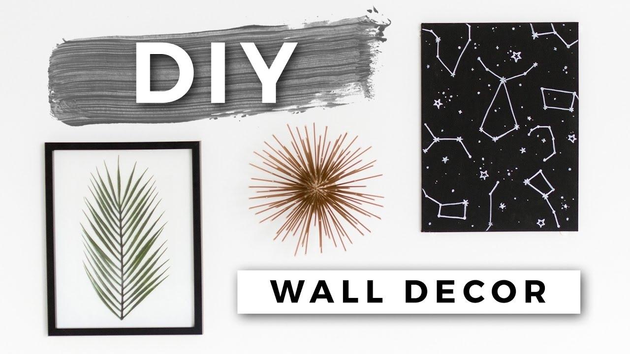Diy Tumblr Room Decor! Minimal Wall Art! (dollar Store Diys) – Youtube With Tumblr Wall Art (View 2 of 20)