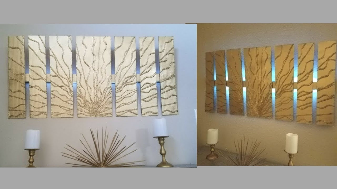 Diy Wall Decor With In Built Lighting Using Cardboards Simple And intended for Inexpensive Wall Art (Image 3 of 20)