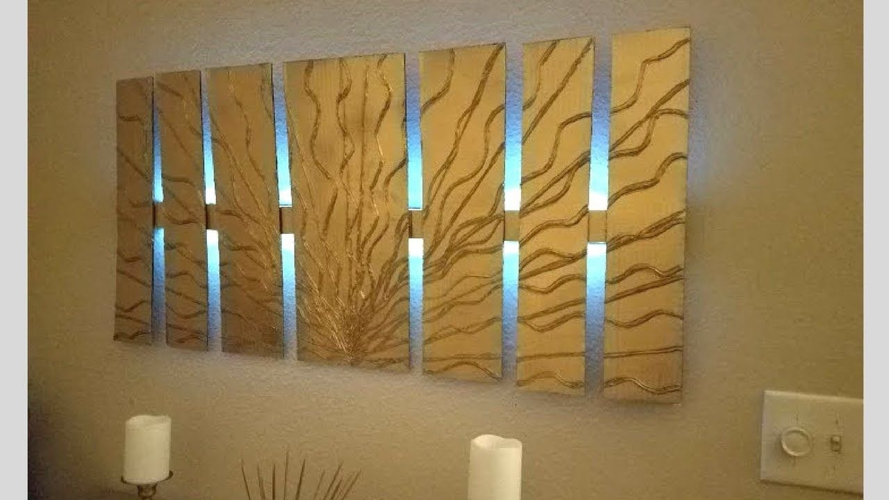 Diy Wall Decor With Lighting Using Cardboard Simple And Inexpensive intended for Inexpensive Wall Art (Image 4 of 20)