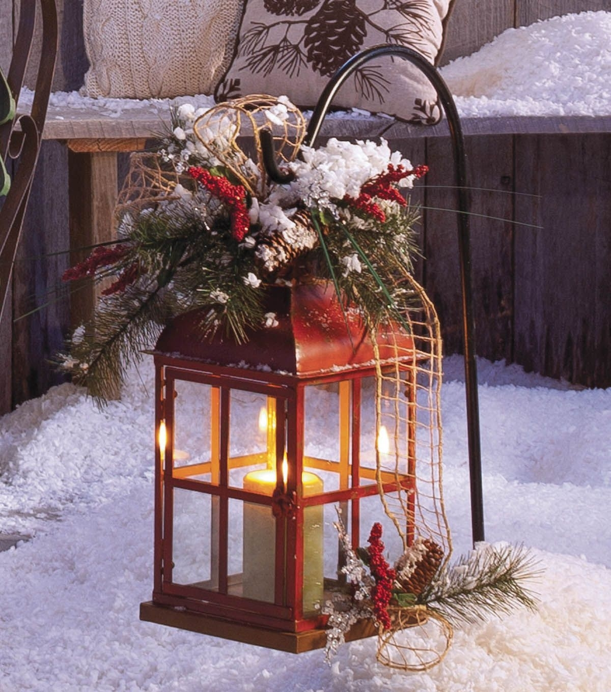 Diy Weather Proor Outdoor Lantern ! After Holidays You Just Take Off Pertaining To Outdoor Holiday Lanterns (View 12 of 20)