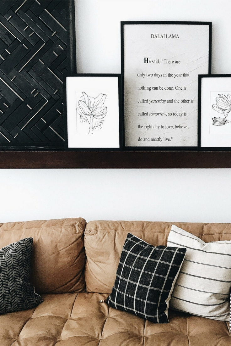 Diy West Elm Blackened Wood + Brass Wall Art Hack – Disheveled Delight With West Elm Wall Art (View 12 of 20)