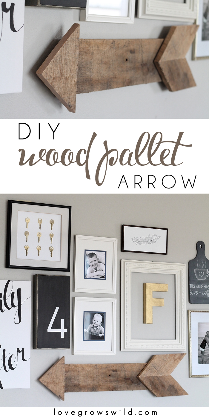 Diy Wood Pallet Arrow - Love Grows Wild with regard to Arrow Wall Art (Image 11 of 20)
