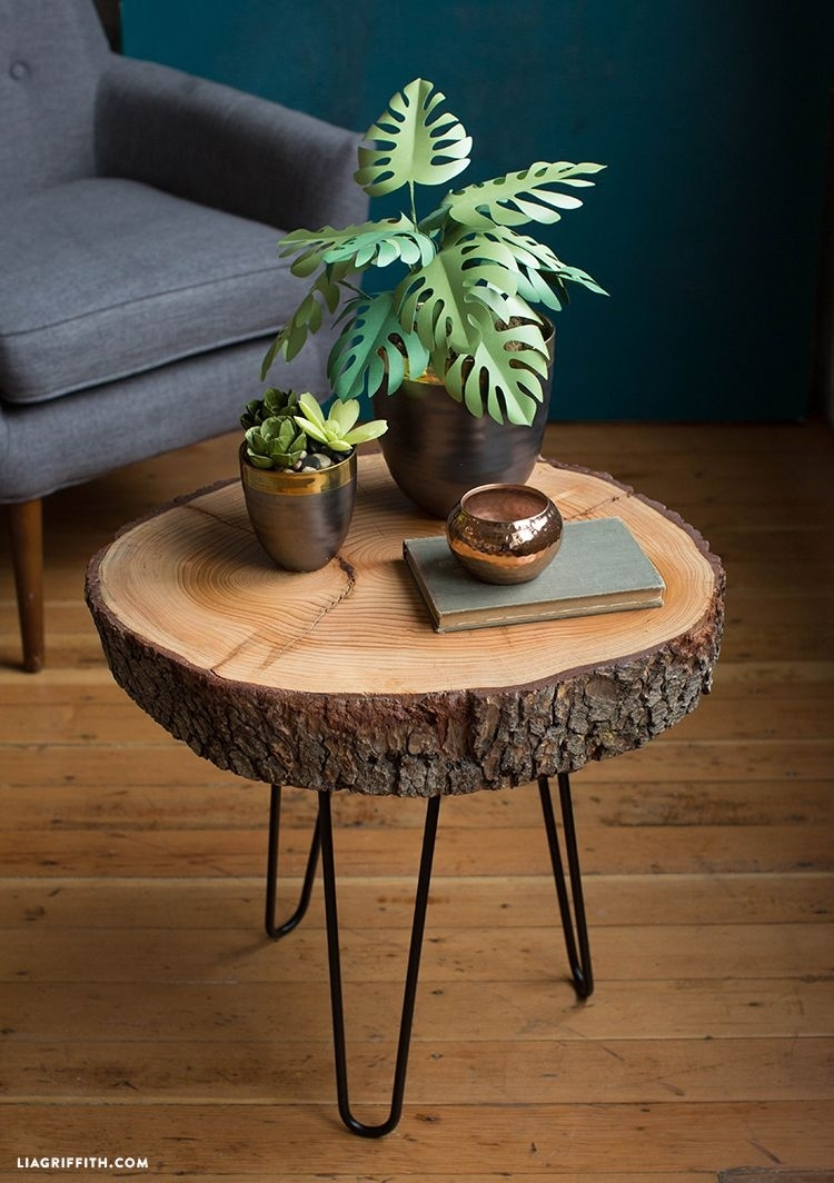 Diy Wood Slice Table   Decorating Ideas For All Rooms   Pinterest in Sliced Trunk Coffee Tables (Image 11 of 30)