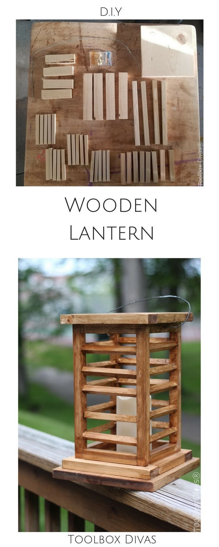 Diy Wooden Lantern That Looks Like You Bought It | Home Improvement regarding Outdoor Wood Lanterns (Image 5 of 20)