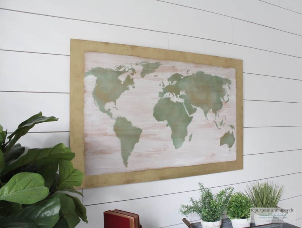 Diy World Map Art On Wood throughout Diy World Map Wall Art (Image 6 of 20)