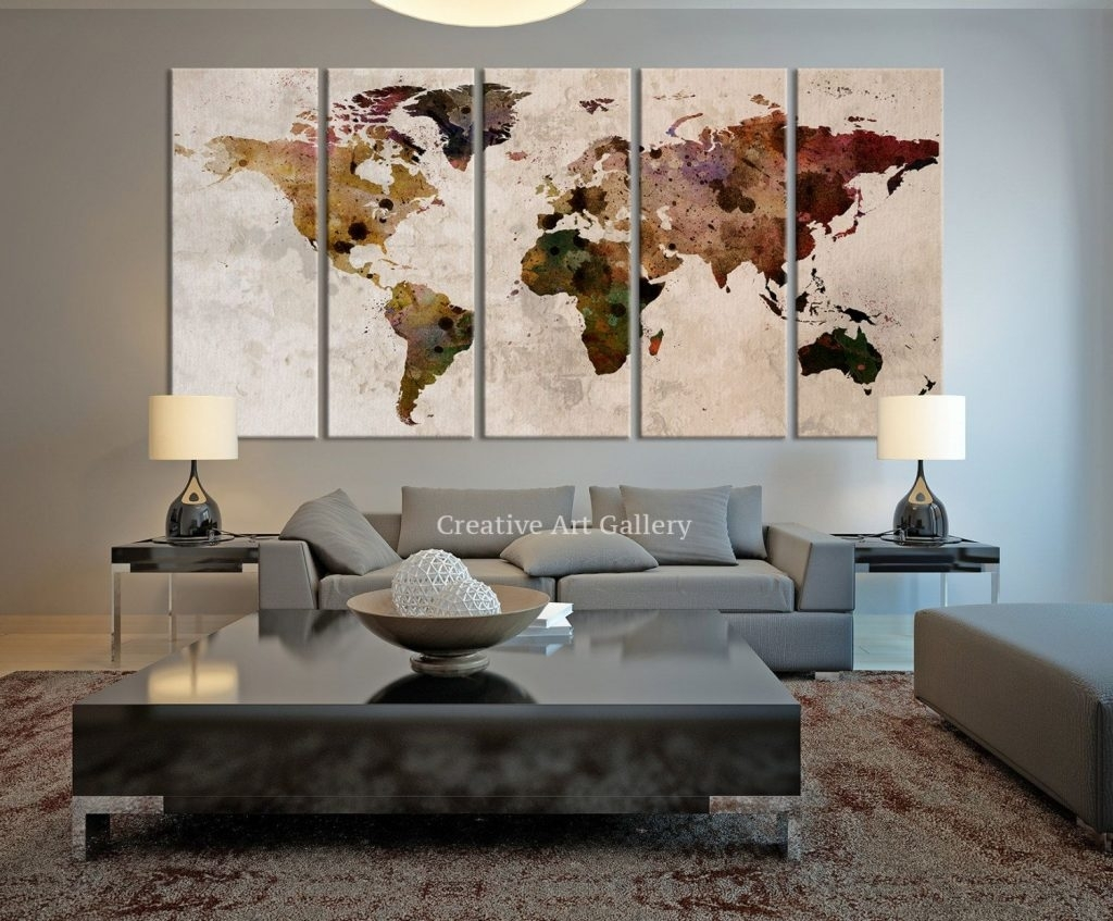 Diy World Map Superb Wall Decor Maps - Wall Decoration And Wall Art pertaining to Diy World Map Wall Art (Image 7 of 20)