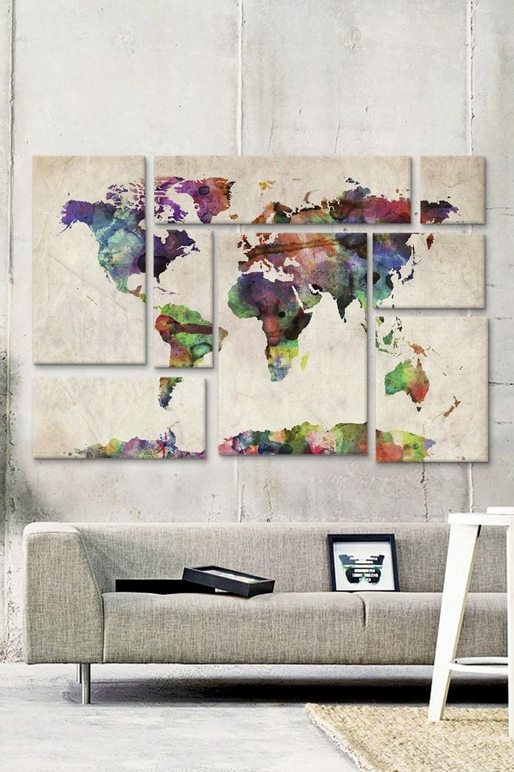 Diy World Map Wall Decor Arabcooking. Map Of Decor (View 7 of 20)