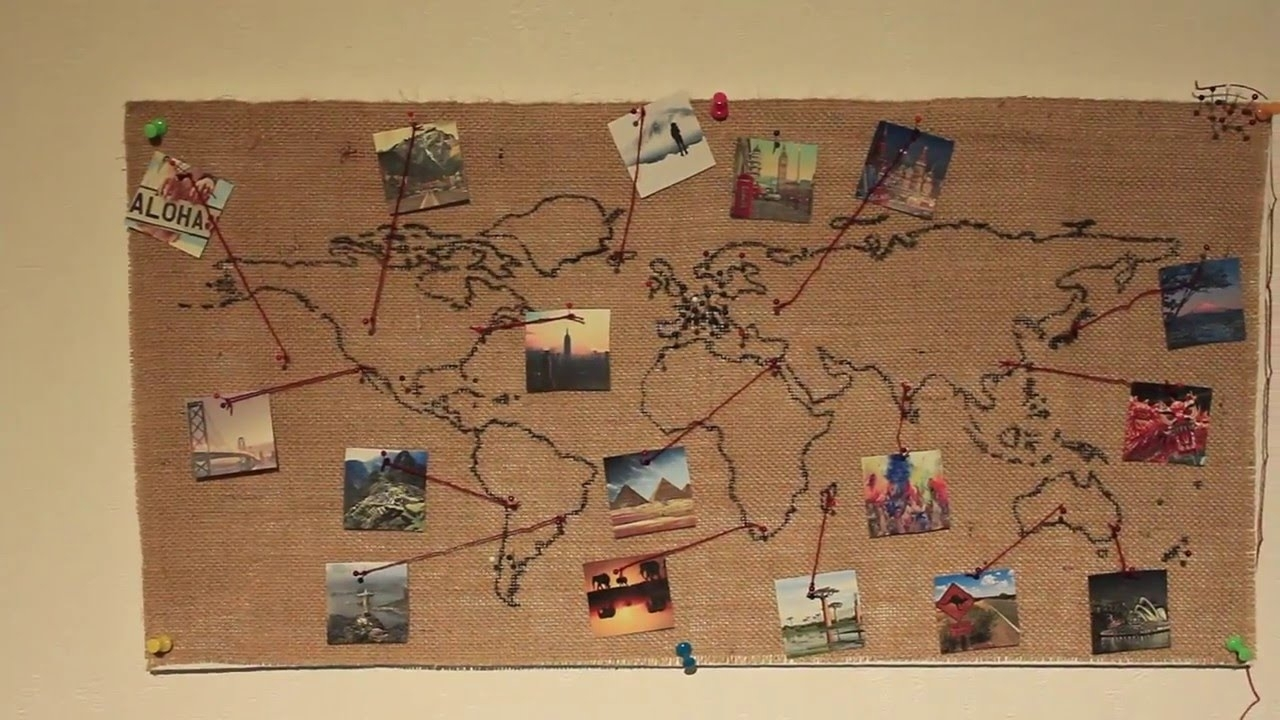 Diy World Map Wall Decor Noavg. Map Of Decor. Map For Decor. Www regarding Diy World Map Wall Art (Image 11 of 20)