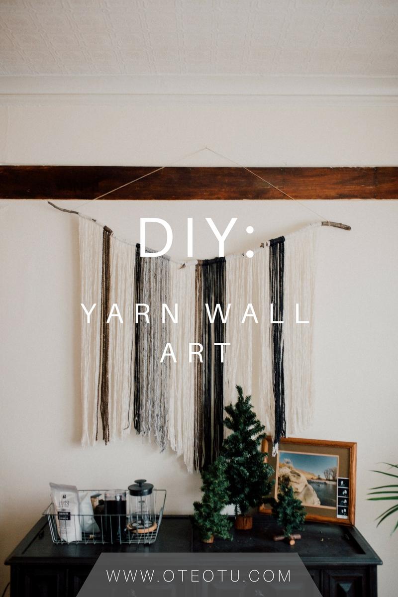 Diy Yarn Wall Art || Do It Yourself || Yarn Wall Hanging || Wall Art In Yarn Wall Art (View 8 of 20)