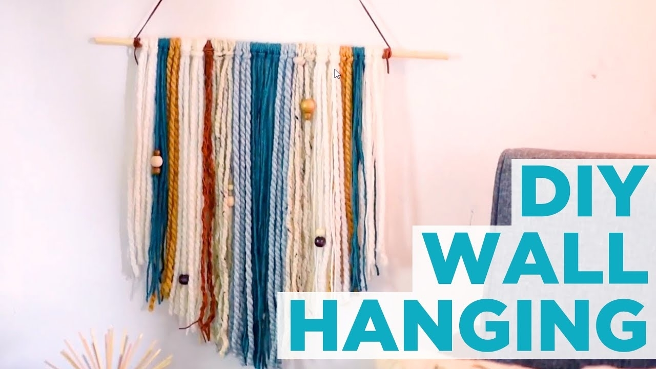 Diy Yarn Wall Hanging – Hgtv – Youtube With Regard To Yarn Wall Art (View 4 of 20)