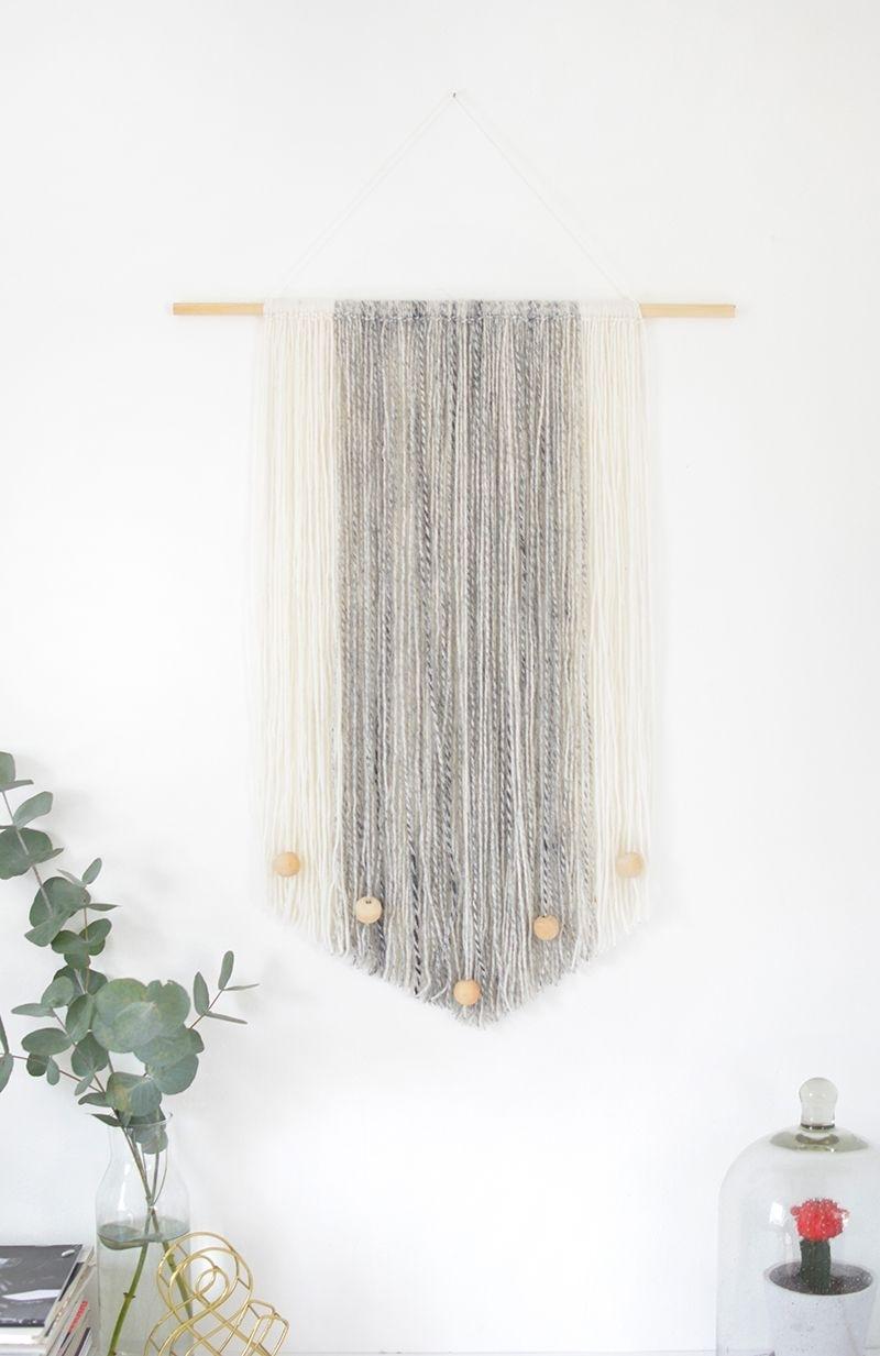 Diy Yarn Wall Hanging | Organize/decorate | Pinterest | Yarn Wall Inside Yarn Wall Art (View 5 of 20)