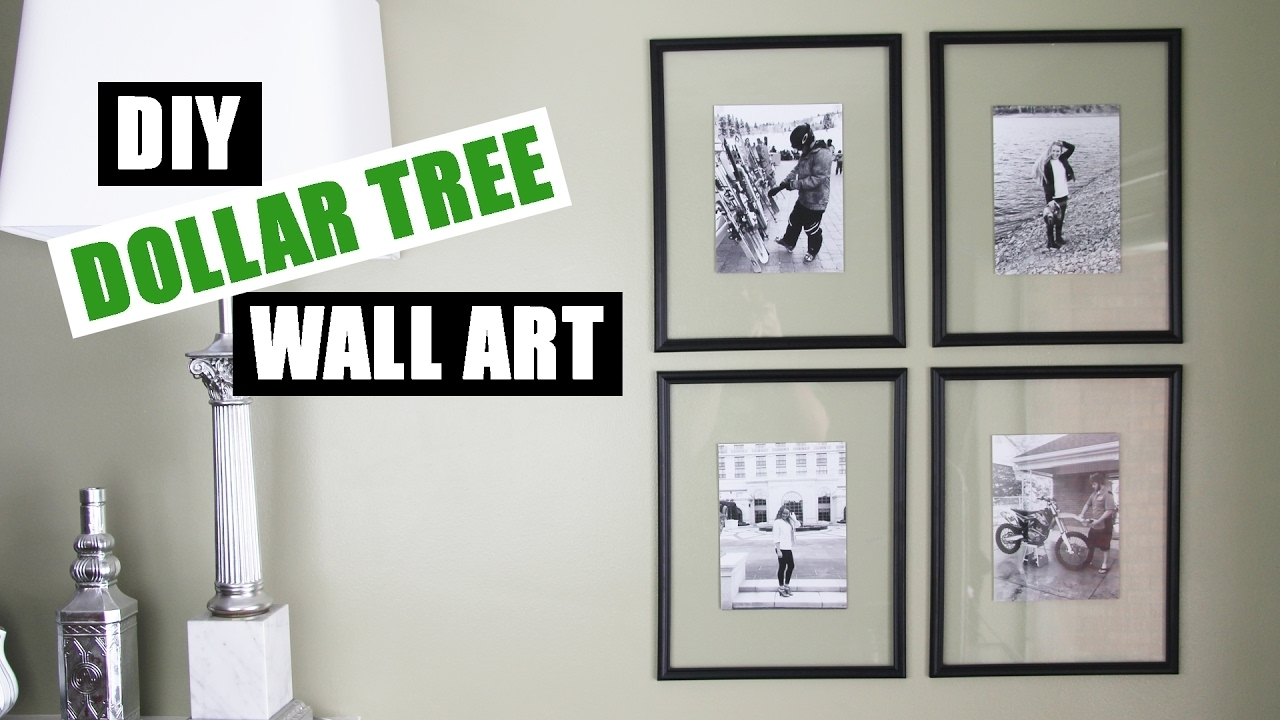 Dollar Tree Diy Floating Frame Art | Dollar Store Diy Gallery Wall intended for Cheap Wall Art (Image 9 of 20)
