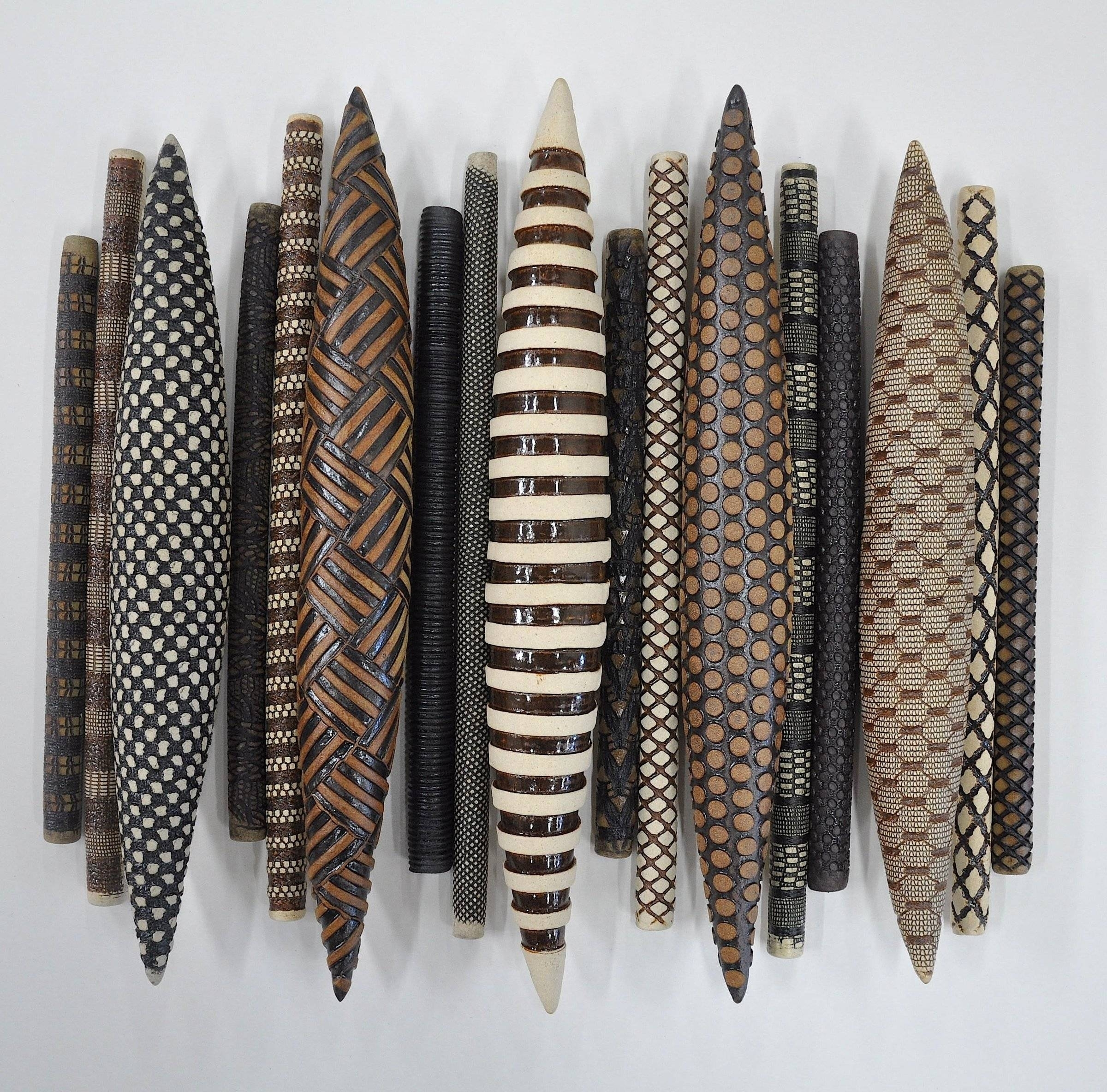 Domestic Markings Kelly Jean Ohl Ceramic Wall Sculpture Throughout for Ceramic Wall Art (Image 13 of 20)