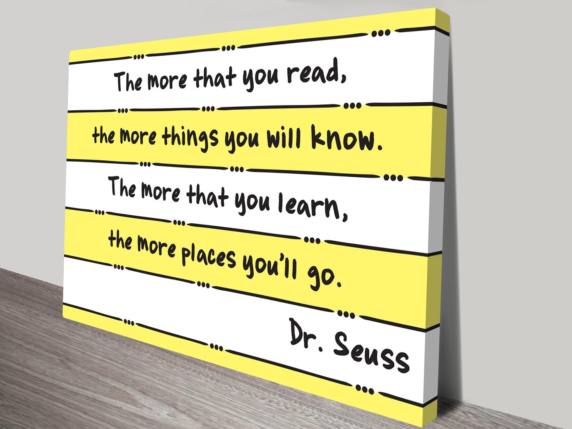 Dr Seuss Landscape Motivational Wall Art Print Regarding Dr Seuss Wall Art (View 3 of 20)