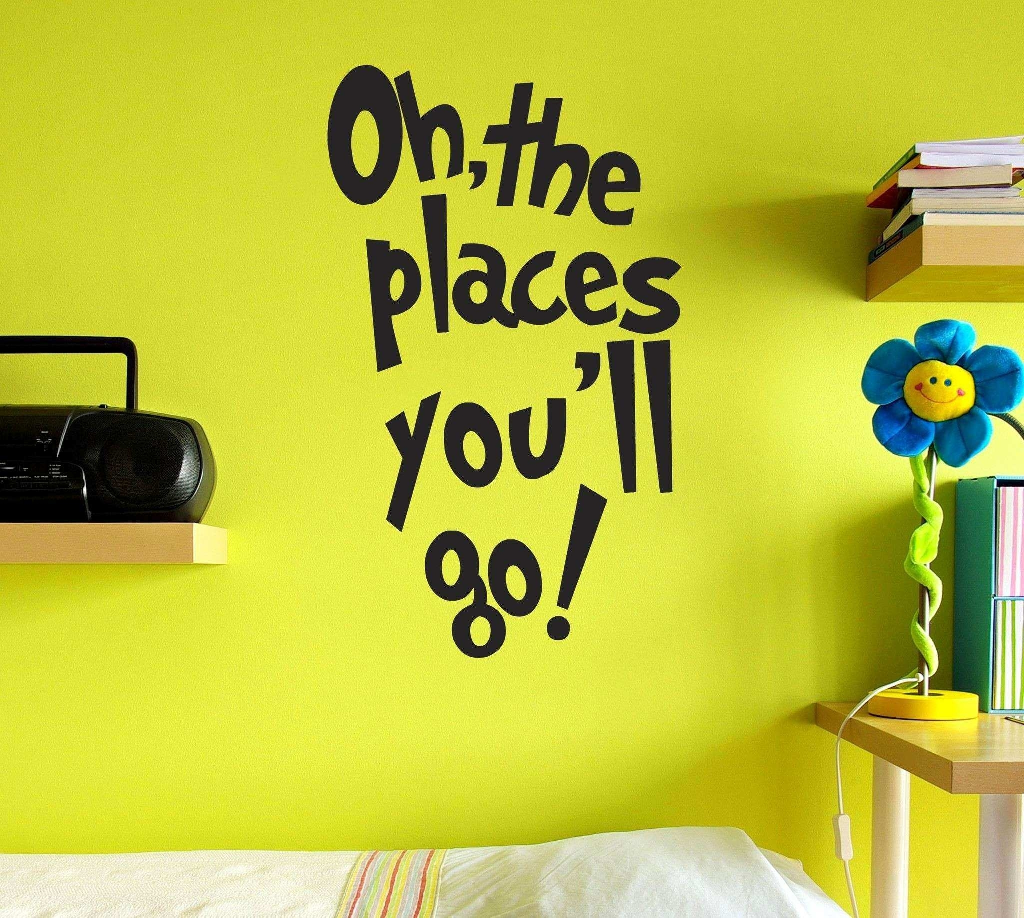 Dr Seuss Wall Decals New Fancy Dr Seuss Wall Art Position Wall Art Throughout Dr Seuss Wall Art (View 14 of 20)