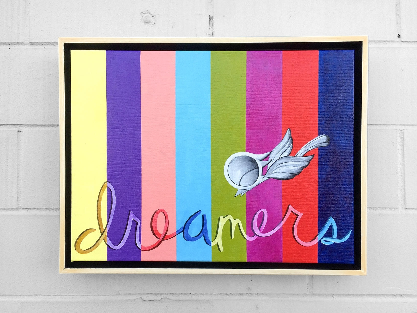 Dream Bird Inspirational Acrylic Painting - Dreamers, 12X16 for Bird Framed Canvas Wall Art (Image 11 of 20)