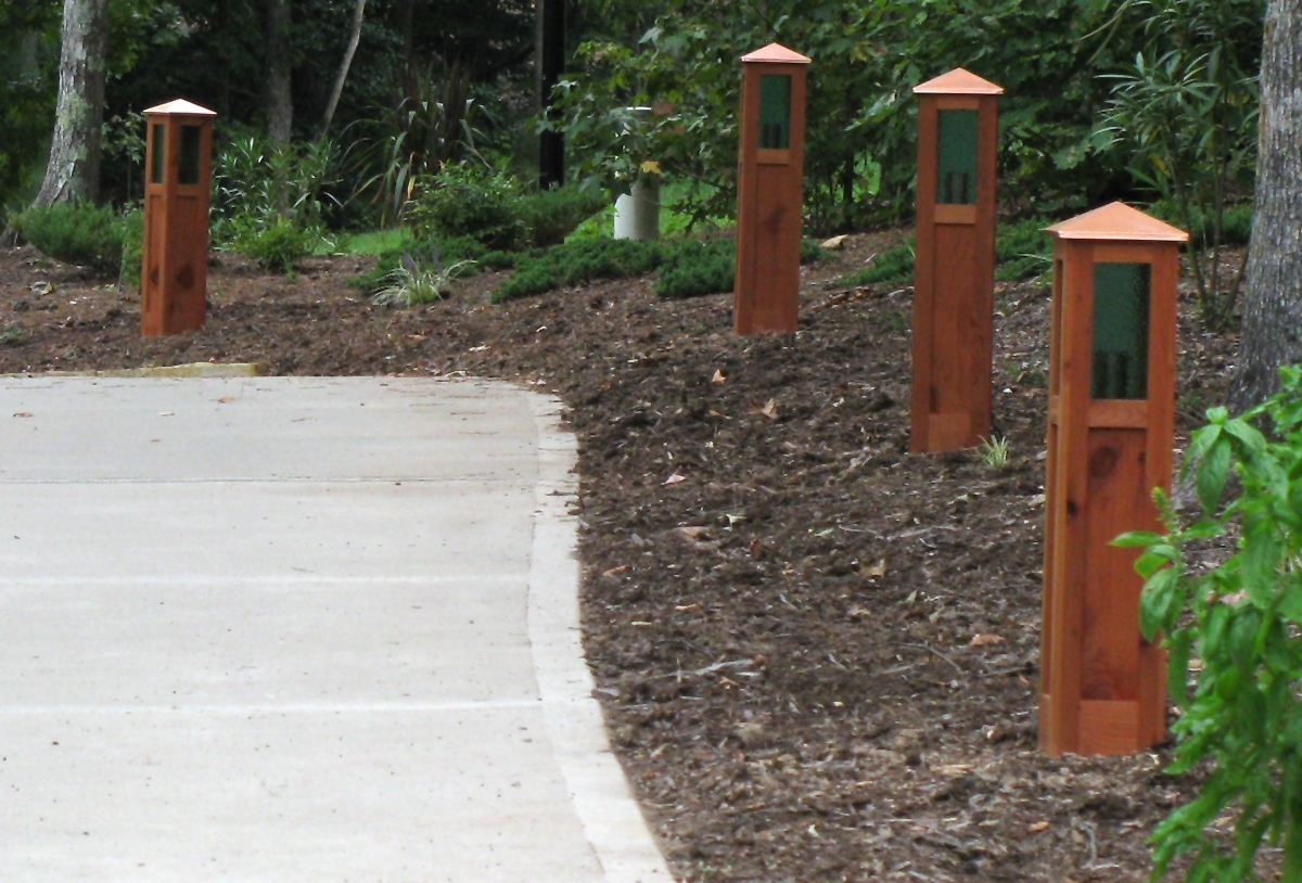 Driveway And Landscape Lights | Uno Woodworks with regard to Outdoor Driveway Lanterns (Image 2 of 20)