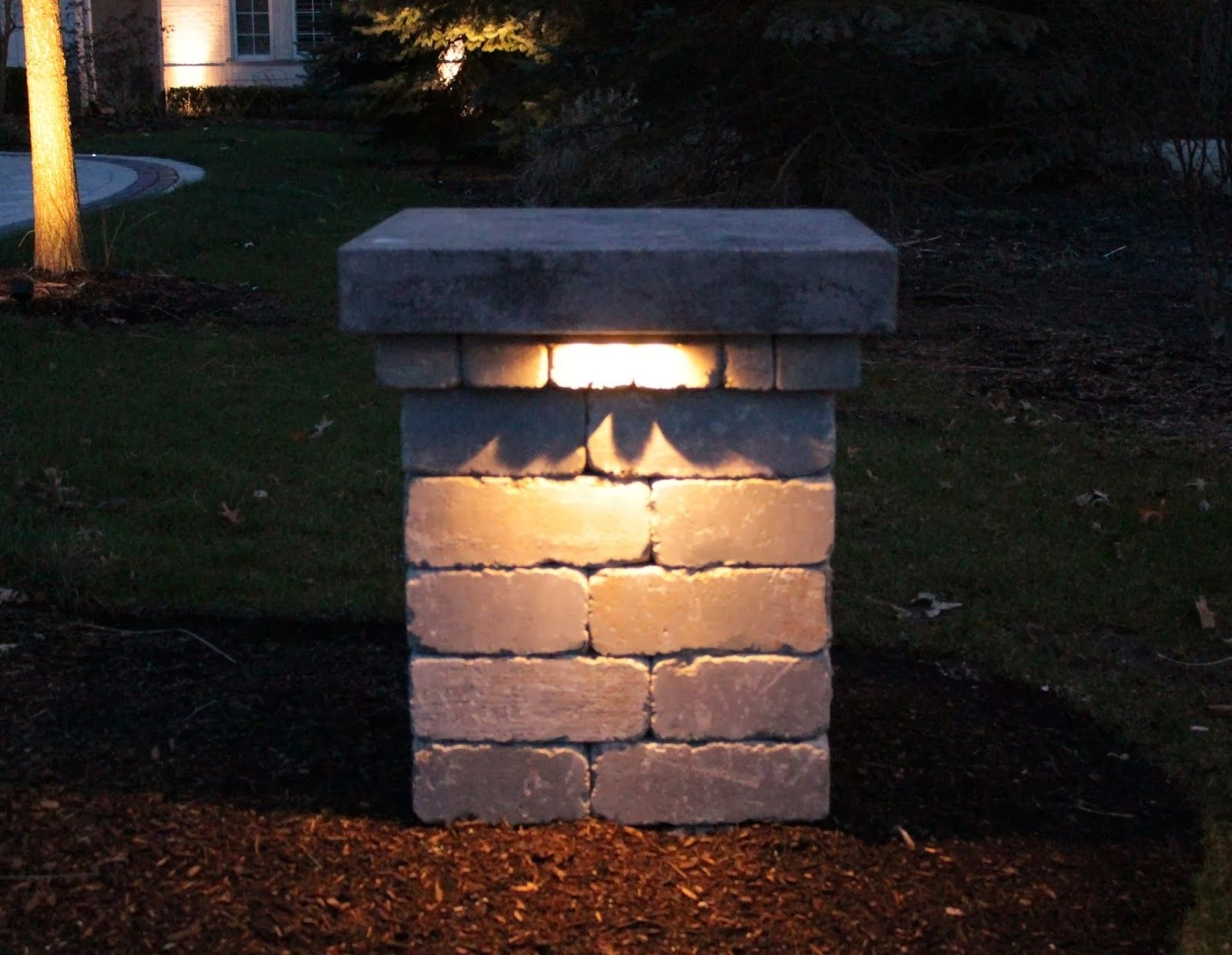 Driveway Pillar Lighting - Google Search | Gates & Driveways throughout Outdoor Pillar Lanterns (Image 3 of 20)