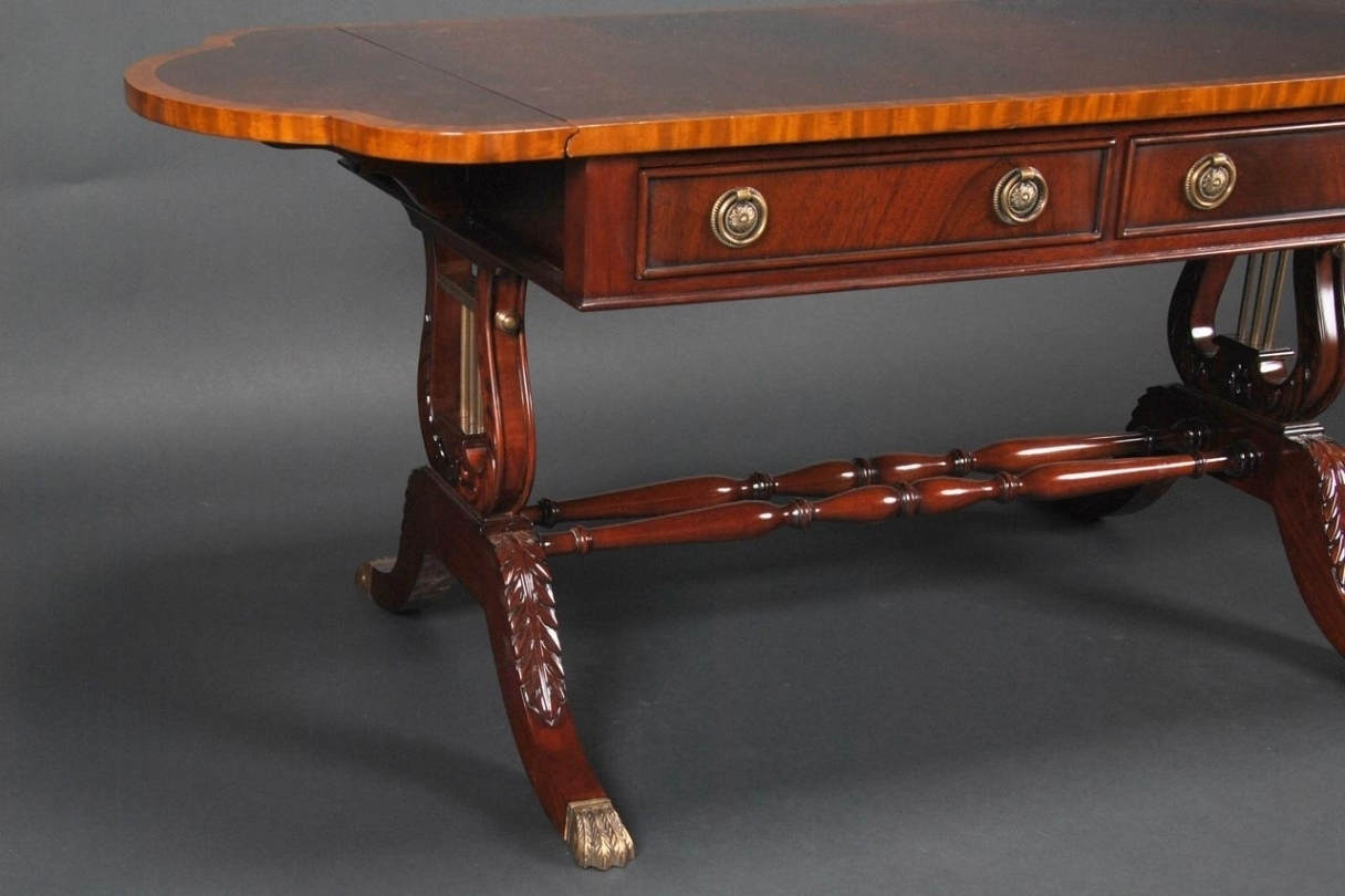 Duncan Phyfe Coffee Table Lyre Within Elegant Quintessence – Reford inside Lyre Coffee Tables (Image 12 of 30)