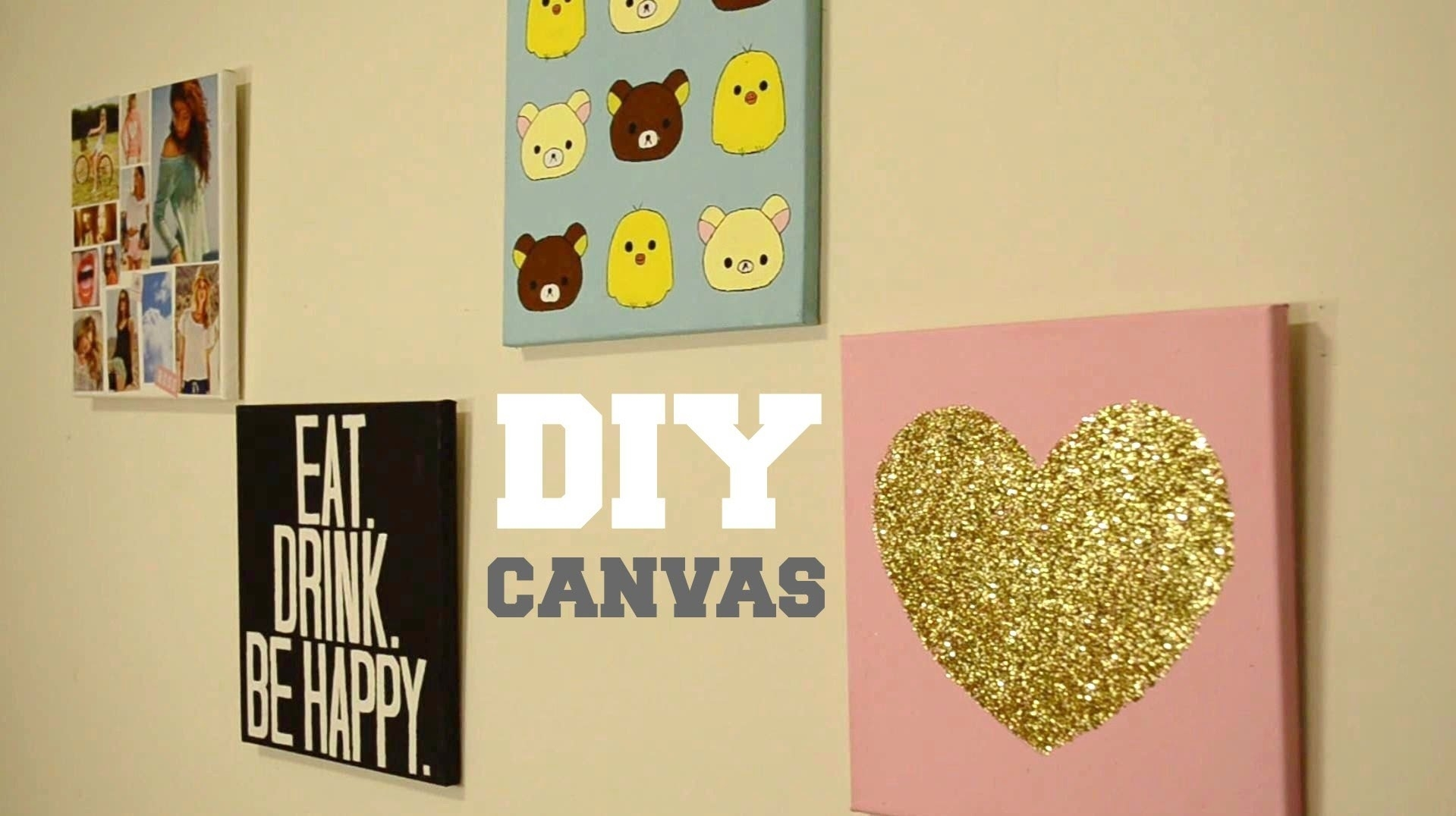 ✂ Diy Wall Decor: Custom Canvas - Youtube in Art Wall Decors (Image 1 of 20)