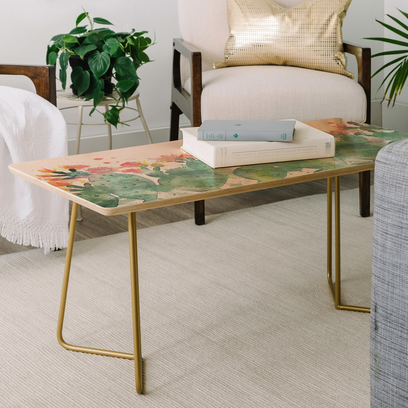 East Urban Home Dash And Ash Messy Cactus Coffee Table | Wayfair within Cacti Brass Coffee Tables (Image 12 of 30)
