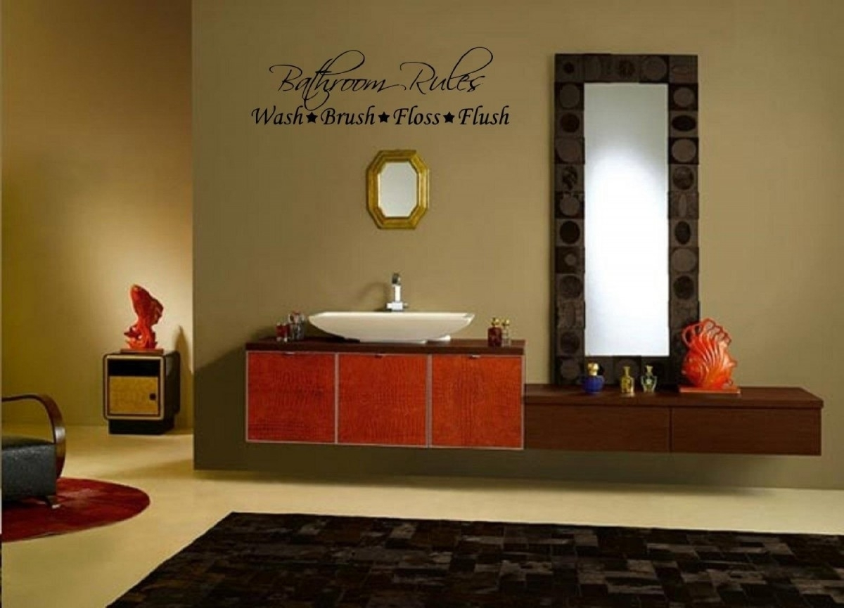 Easy Bathroom Wall Art And Decor : Bird Bathroom Wall Art And Decor Within Bathroom Wall Art Decors (Photo 7 of 20)