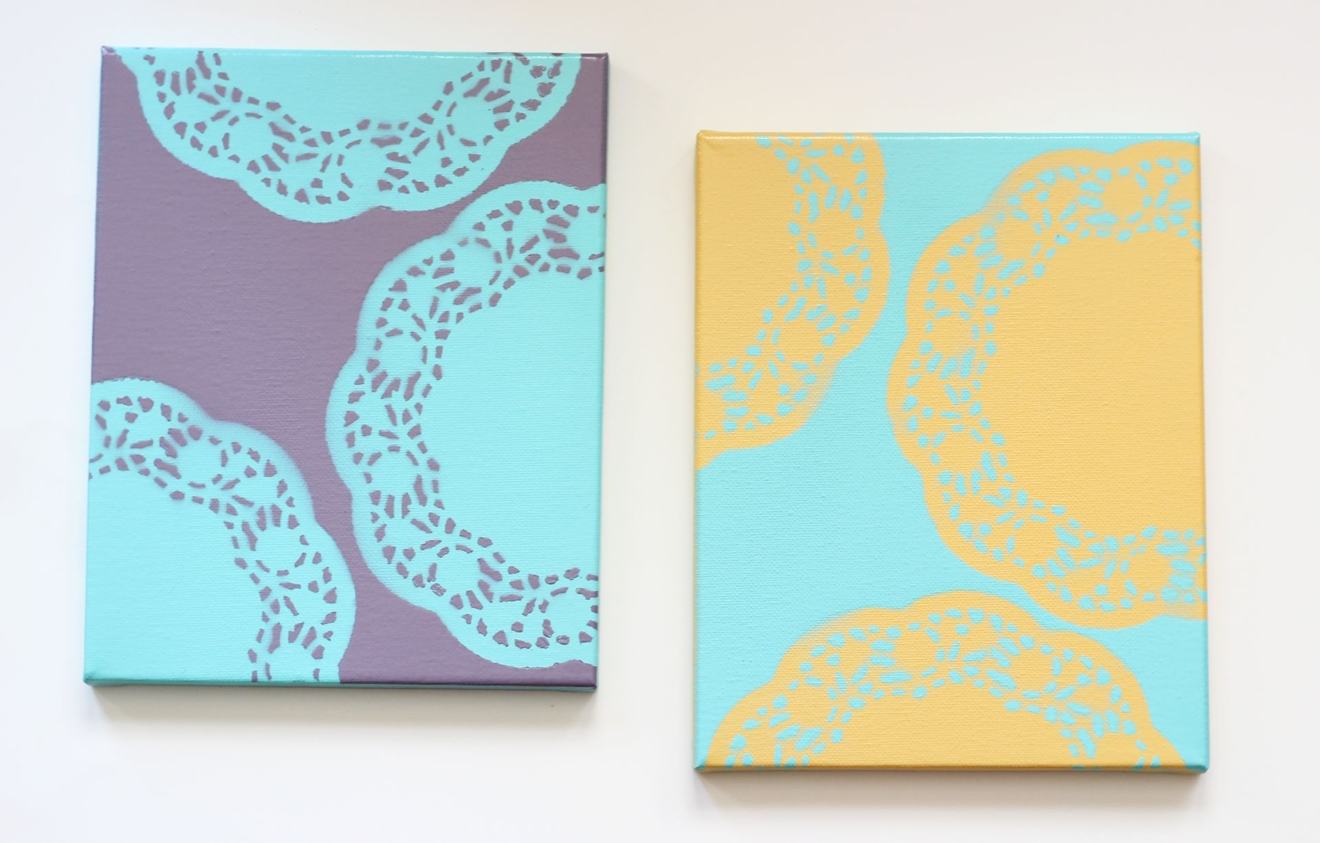 Easy Diy Wall Art With Doilies Within Diy Canvas Wall Art (Photo 15 of 20)