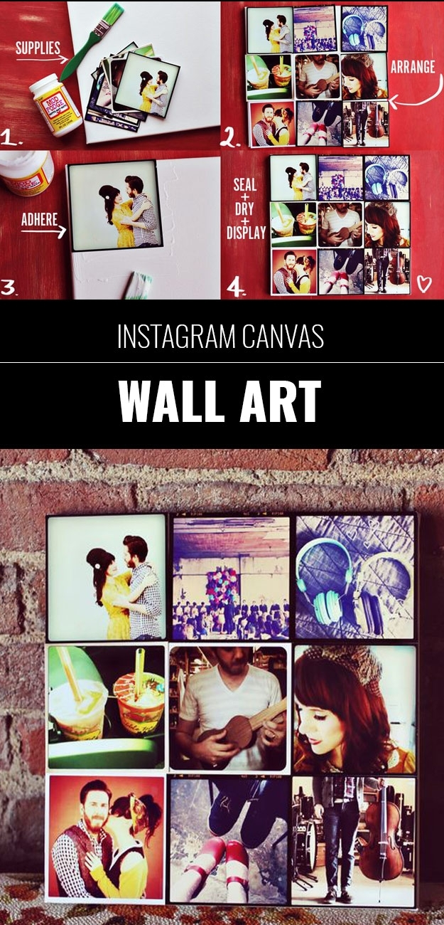 Easy-Instagram-Canvas-Wall-Art - Diy Projects For Teens regarding Instagram Wall Art (Image 9 of 20)