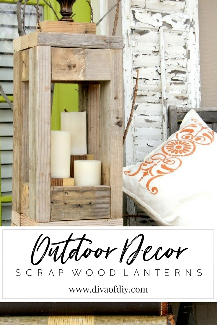 Easy Outdoor Decor: How To Make Lanterns From Scrap Wood | Diva Of Diy Within Outdoor Wood Lanterns (Photo 18 of 20)