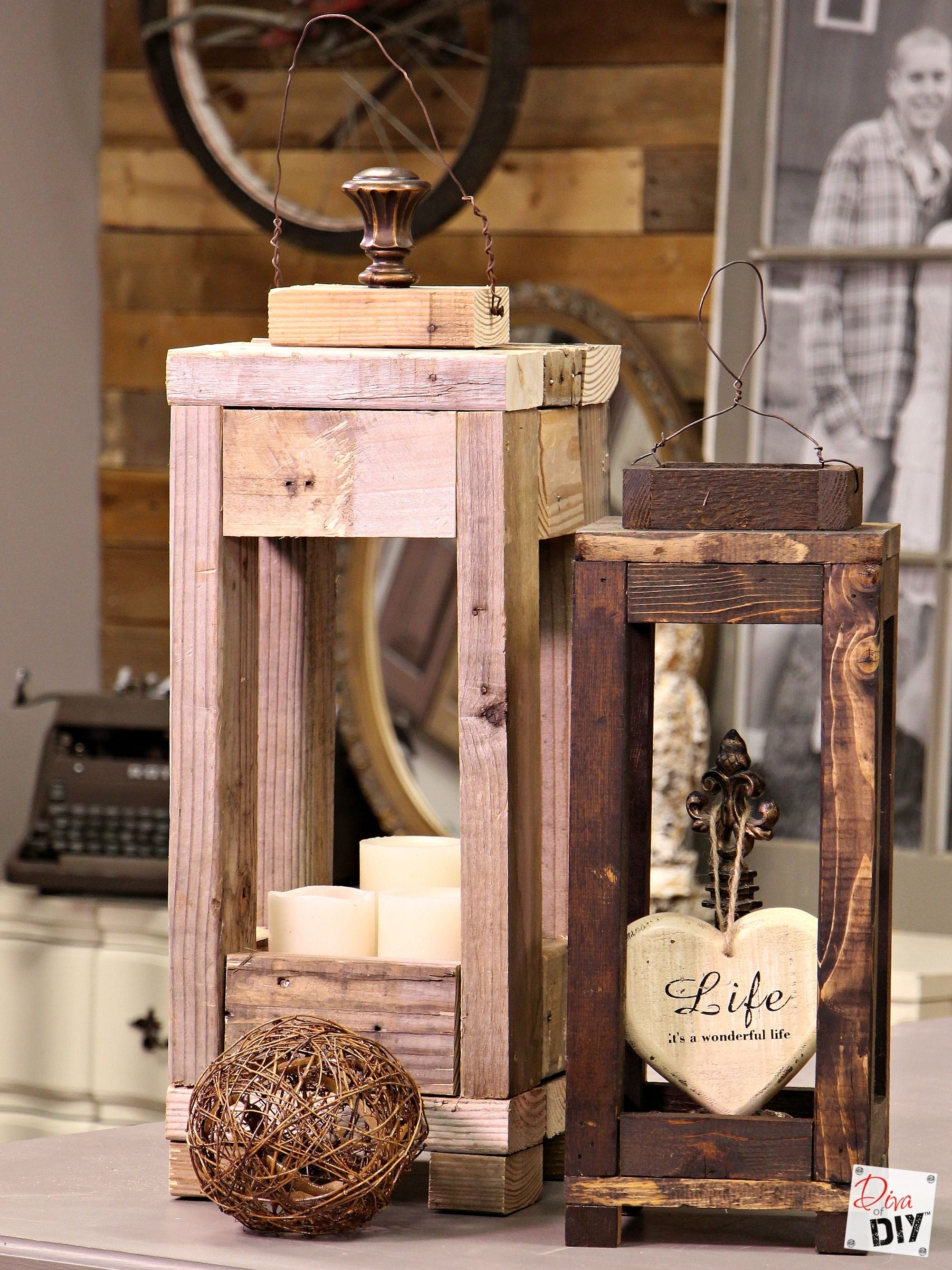 Easy Outdoor Decor: How To Make Lanterns From Scrap Wood | Diy Throughout Outdoor Wood Lanterns (View 5 of 20)