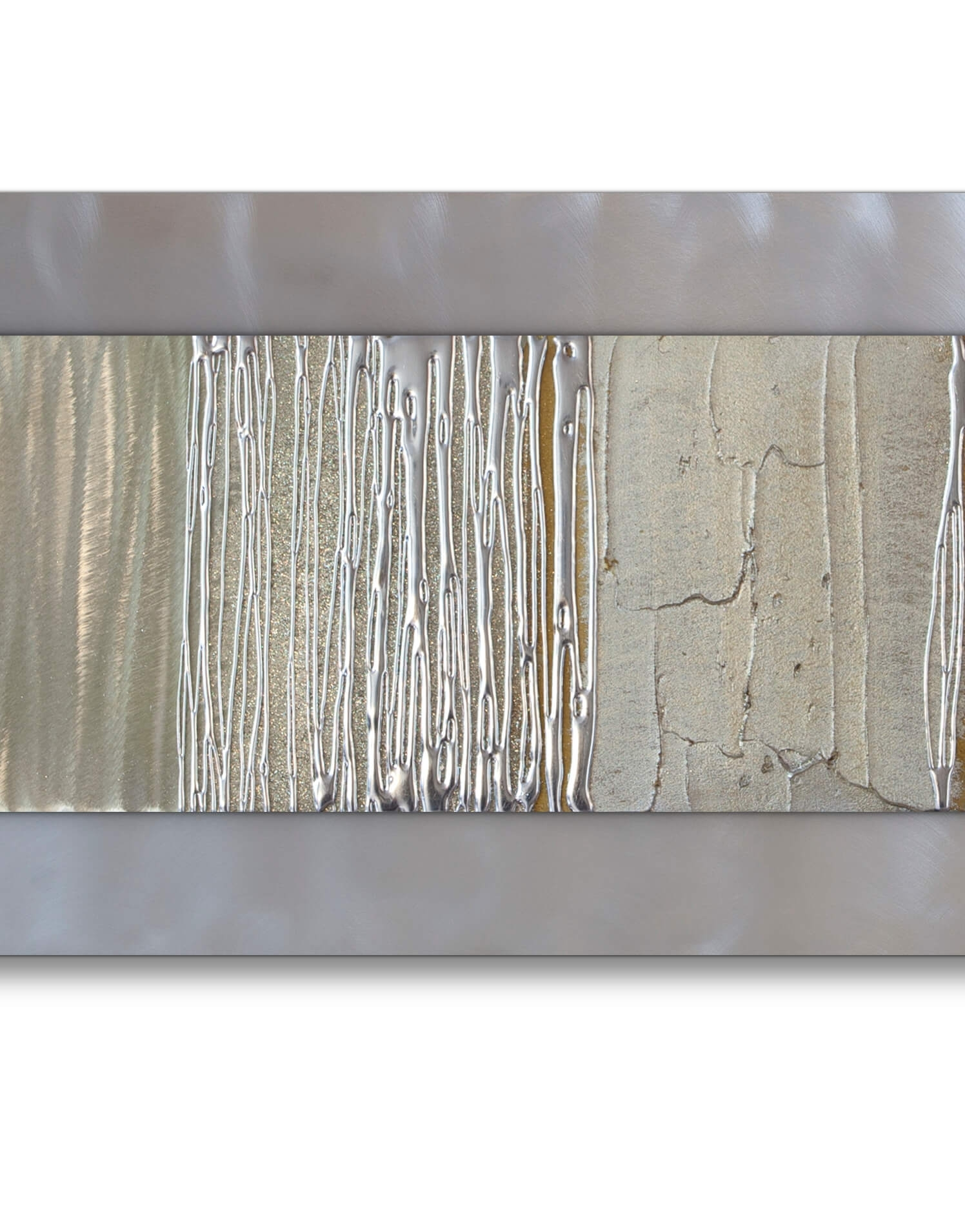 Echo Champagne   Silver Wall Art, Contemporary Art Uk In Silver Wall Art (Photo 8 of 20)