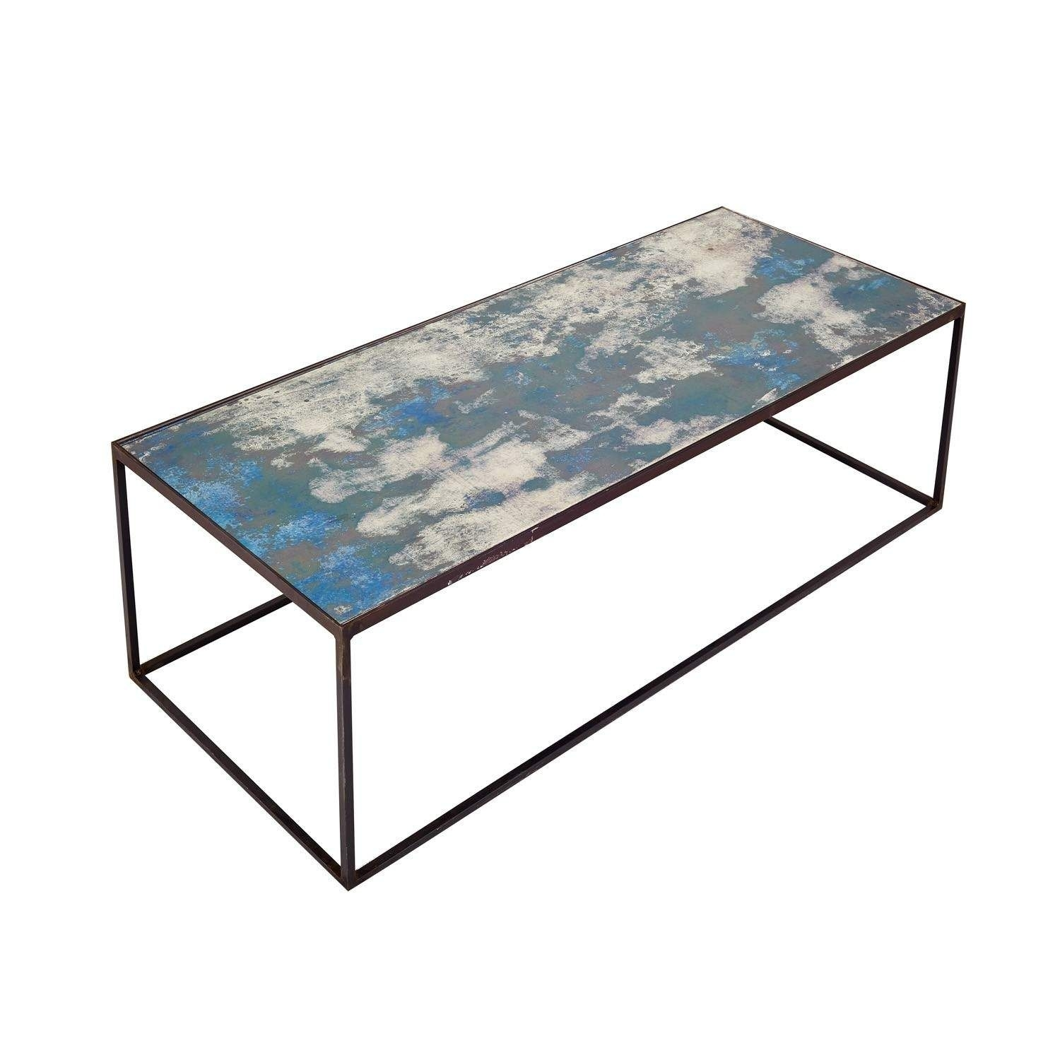 Echo Mirrored Coffee Table Ocean Blue | Furniture | Pinterest pertaining to Alcide Rectangular Marble Coffee Tables (Image 4 of 30)
