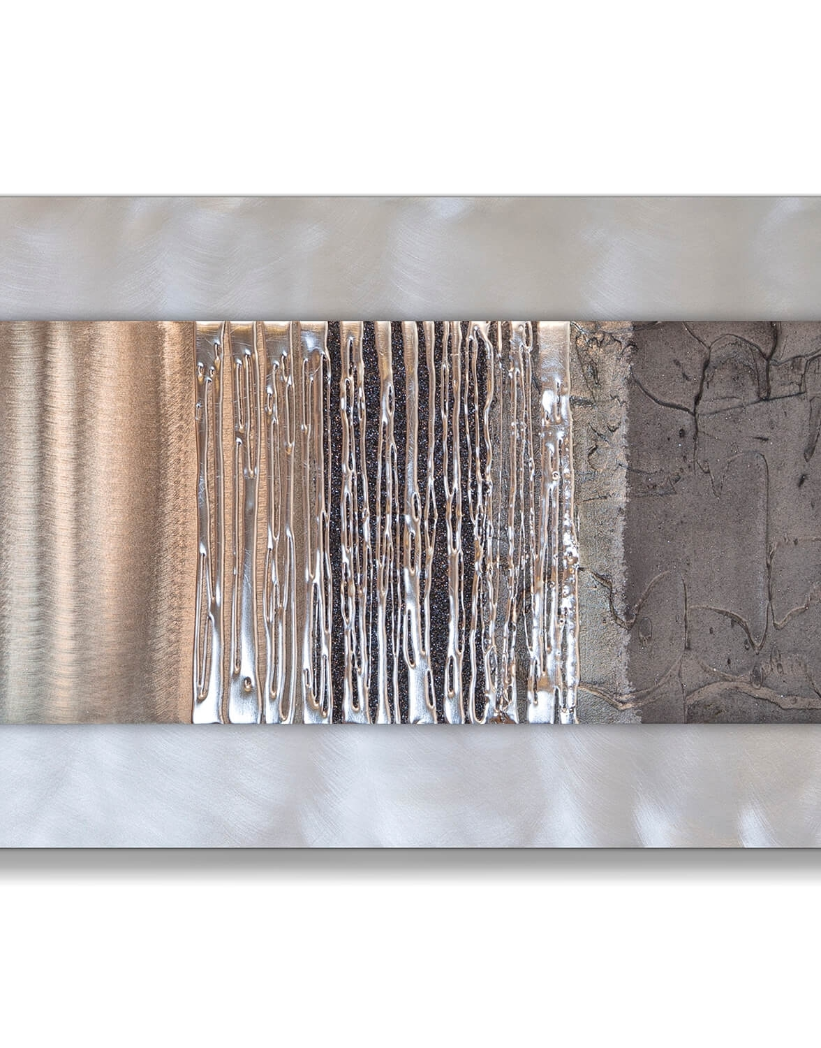 Echo Oak Grey Silver Wall Art, Contemporary Art Uk, Grey Wall Art In Silver Wall Art (Photo 4 of 20)