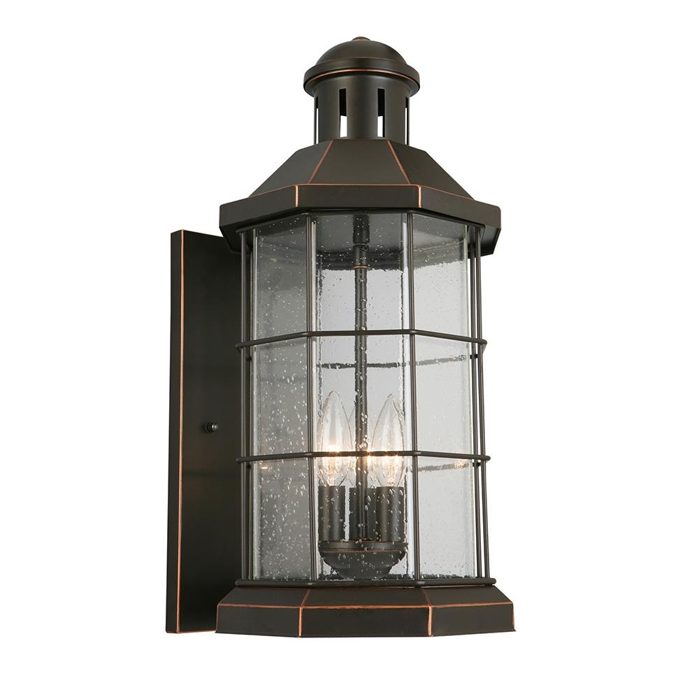 Eglo San Mateo Creek 3-Light Oil Rubbed Bronze Outdoor Wall Lantern within Outdoor Oil Lanterns (Image 5 of 20)