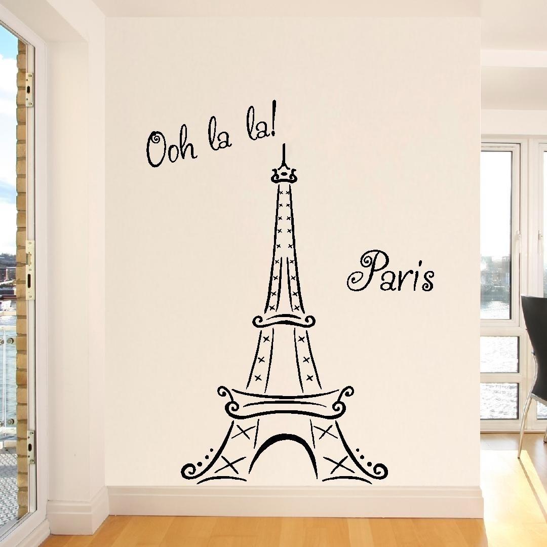 Eiffel Tower Wall Art Sticker : Andrews Living Arts   Eiffel Tower Within Eiffel Tower Wall Art (Photo 6 of 20)