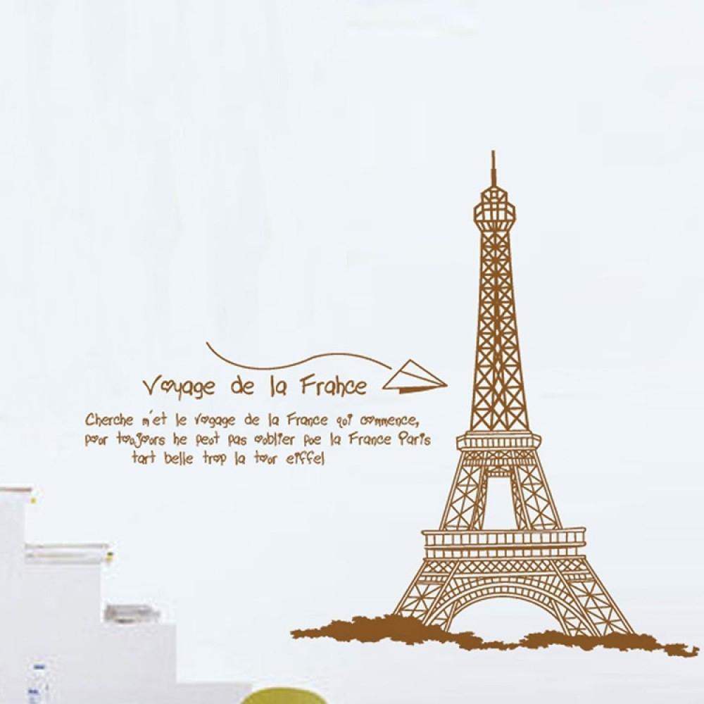 Eiffel Tower Wall Decal | Wallstickerscool.au Wall Decals, Vinyl Throughout Eiffel Tower Wall Art (Photo 7 of 20)