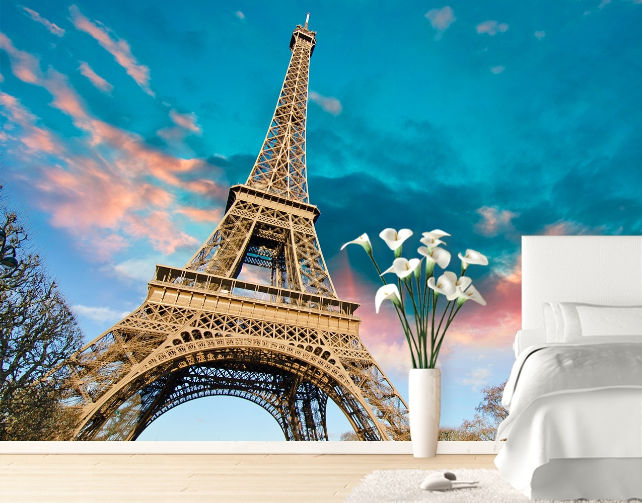 Eiffel Tower Wall Mural – Your Decal Shop   Nz Designer Wall Art With Regard To Eiffel Tower Wall Art (Photo 15 of 20)