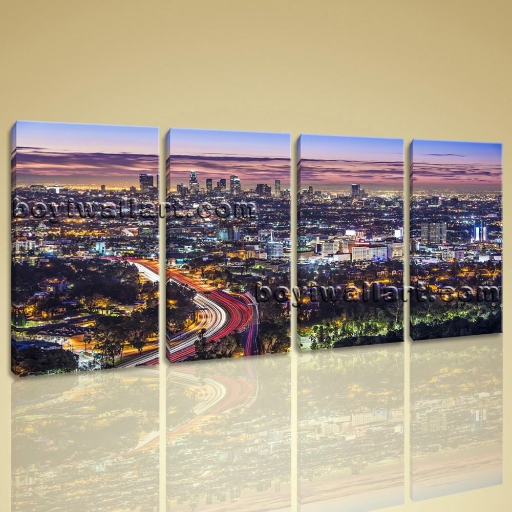 Elegant Los Angeles Wall Art   Kunuzmetals Inside Los Angeles Wall Art (Photo 4 of 20)