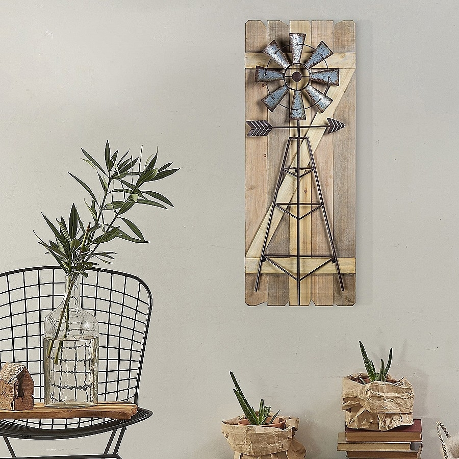Elegant Metal Windmill Wall Clock : Distributorjerseybolathai Throughout Windmill Wall Art (Photo 17 of 20)