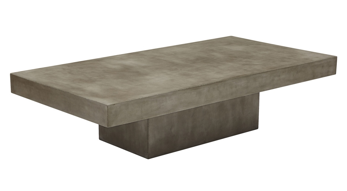Element Grey Concrete Coffee Table   So That's Cool For Element Coffee Tables (Photo 11 of 30)