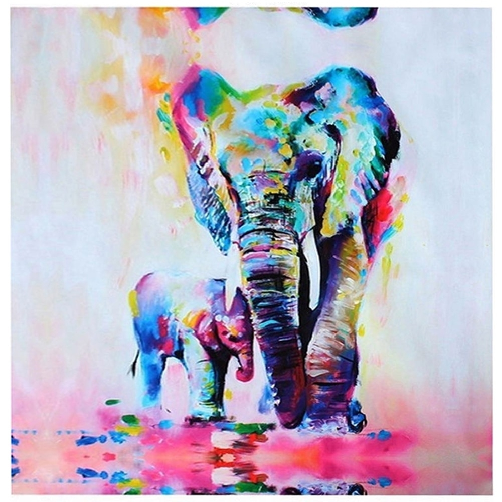Elephant Canvas Print Wall Art Painting Picture Hd Unframed Decor Intended For Elephant Canvas Wall Art (Photo 12 of 20)