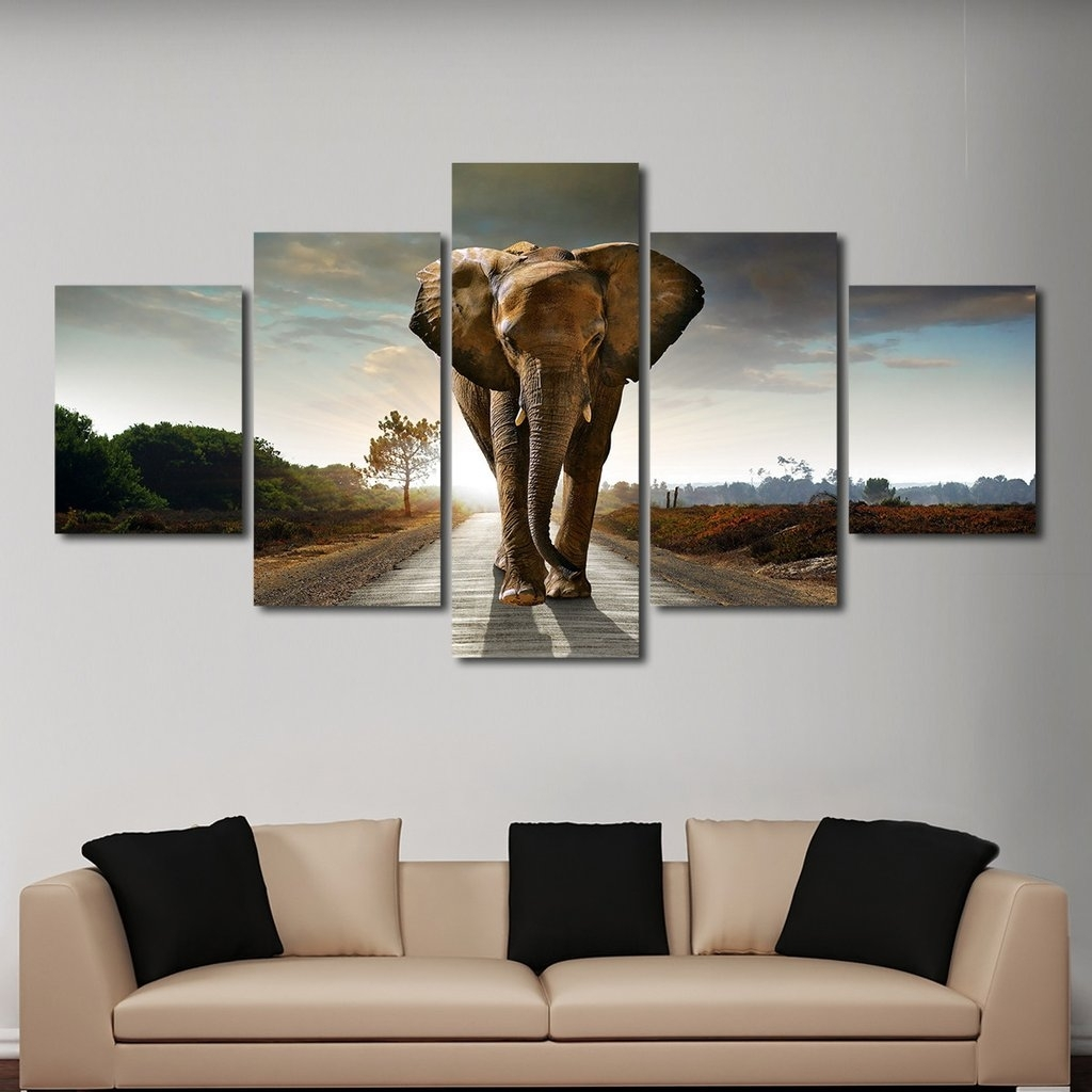 Elephant Stock Multi Panel Canvas Wall Art Lr X Epic Multi Panel with regard to Multi Panel Wall Art (Image 8 of 20)