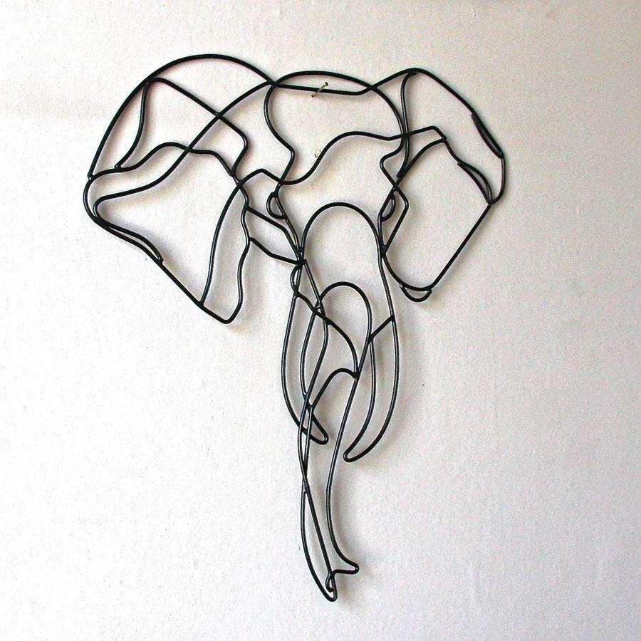Elephant Wire Wall Art Pre Orderlondon Garden Trading, Elephant With Wire Wall Art (Photo 8 of 20)
