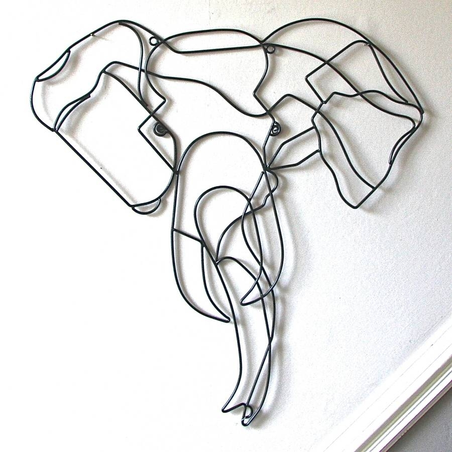 Elephant Wire Wall Artlondon Garden Trading | Notonthehighstreet For Wire Wall Art (Photo 1 of 20)