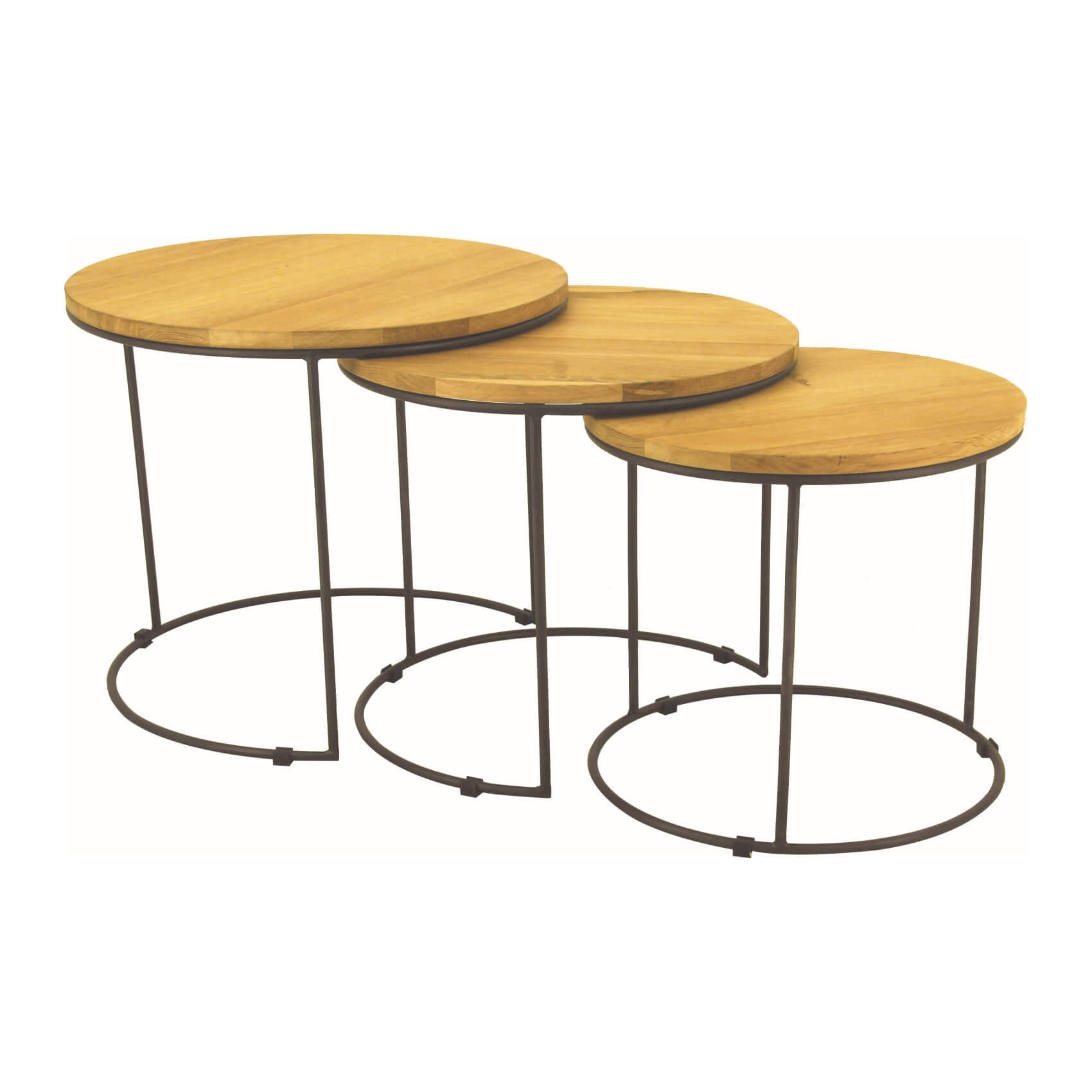 Eligio - Nested Coffee Table (Set Of 3) - Zillo + Hutch inside Set Of Nesting Coffee Tables (Image 11 of 30)